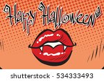 happy halloween mouth female... | Shutterstock . vector #534333493