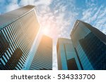 business downtown and... | Shutterstock . vector #534333700