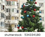 Decorated Christmas Tree In Th...