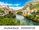 the old bridge in mostar in a... | Shutterstock . vector #534334720