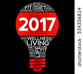 2017 health goals bulb word... | Shutterstock . vector #534336814