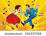 couple man and woman dancing ... | Shutterstock . vector #534337558
