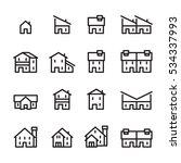 house line icon.set 2 | Shutterstock .eps vector #534337993