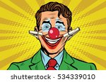 clown face smile with... | Shutterstock . vector #534339010