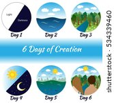 Six Days Of Creation. Bible...