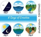 Six Days Of Creation. Bible...