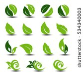 vector natural rounded symbols...   Shutterstock .eps vector #534340003