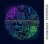 copywriting round bright...   Shutterstock .eps vector #534340414