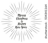 merry christmas and happy new... | Shutterstock .eps vector #534341164