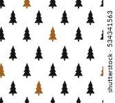seamless pattern. christmas... | Shutterstock .eps vector #534341563