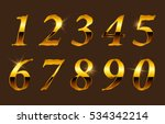 set of gold numbers.vector... | Shutterstock .eps vector #534342214