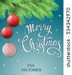 christmas postcard with... | Shutterstock .eps vector #534342970