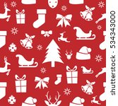christmas seamless pattern on a ... | Shutterstock .eps vector #534343000