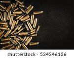 Bullets from the gun placed on...