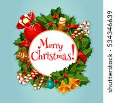 christmas greeting card or...   Shutterstock . vector #534346639