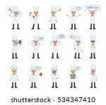 big set of cook characters... | Shutterstock .eps vector #534347410
