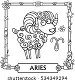 zodiac sign aries. fantastic... | Shutterstock .eps vector #534349294