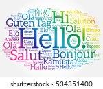hello word cloud in different... | Shutterstock . vector #534351400
