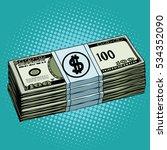 money dollars cash pop art... | Shutterstock . vector #534352090