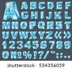 vector ice alphabet. ice... | Shutterstock .eps vector #534356059