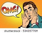 omg surprised emotional pop art ...   Shutterstock . vector #534357709