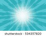 blue pop art retro background... | Shutterstock . vector #534357820