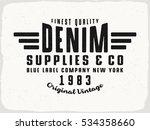 denim supplies print for t...   Shutterstock .eps vector #534358660