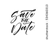 save the date postcard.... | Shutterstock .eps vector #534360313