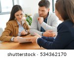 couple meeting financial... | Shutterstock . vector #534362170