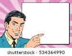 beautiful retro businessman... | Shutterstock . vector #534364990