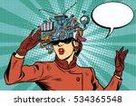 virtual reality glasses retro... | Shutterstock . vector #534365548
