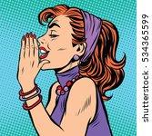 gossip girl pop art pop art... | Shutterstock . vector #534365599
