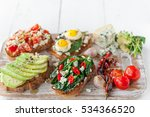 tasty and delicious bruschetta... | Shutterstock . vector #534366520