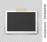 realistic retro photo frame...   Shutterstock .eps vector #534366928