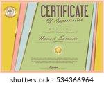 certificate retro design...   Shutterstock .eps vector #534366964