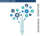 banking mechanism. abstract... | Shutterstock .eps vector #534367150