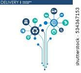 delivery mechanism concept.... | Shutterstock .eps vector #534367153