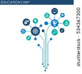 education network. hexagon... | Shutterstock .eps vector #534367300