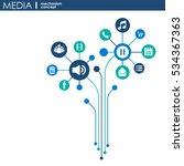 media mechanism concept. growth ... | Shutterstock .eps vector #534367363