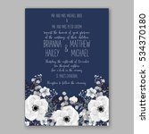 wedding invitation floral... | Shutterstock .eps vector #534370180