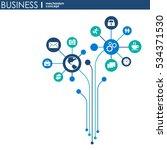 business mechanism concept.... | Shutterstock .eps vector #534371530