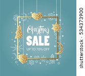 christmas sale  background.... | Shutterstock .eps vector #534373900