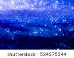 Abstract Blue Bokeh Circles...
