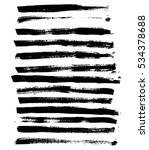 black ink vector brush strokes. ... | Shutterstock .eps vector #534378688