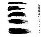 black ink vector brush strokes. ... | Shutterstock .eps vector #534378706