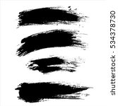 black ink vector brush strokes. ... | Shutterstock .eps vector #534378730