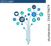 seo mechanism concept. abstract ... | Shutterstock .eps vector #534379879