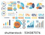 business infographics set with... | Shutterstock .eps vector #534387076