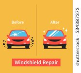 car windshield replacement... | Shutterstock .eps vector #534387373