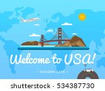 welcome to usa poster with... | Shutterstock .eps vector #534387730